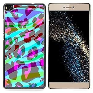 """For Huawei Ascend P8 (Not for P8 Lite) Case , Cebra Rayas abstractas Animal Leopard"""" - Diseño Patrón Teléfono Caso Cubierta Case Bumper Duro Protección Case Cover Funda"""