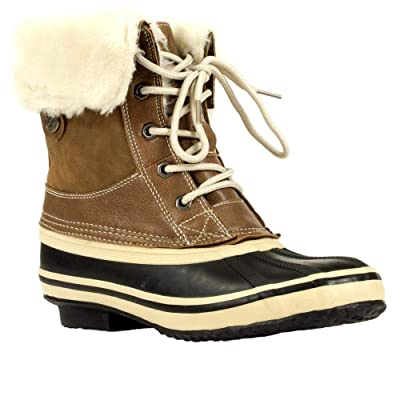 Absolute Canada Women's Snowfield Boot, Brown, 10 | Snow Boots