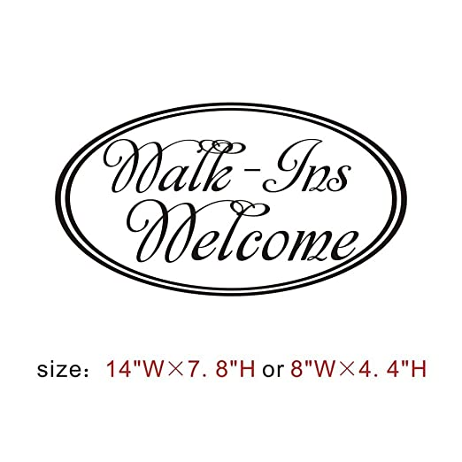 amazon mairgwall walk ins wel e front door decor window decal Red Front Door Inside amazon mairgwall walk ins wel e front door decor window decal home wel e door decal office shop sign decal small white home kitchen