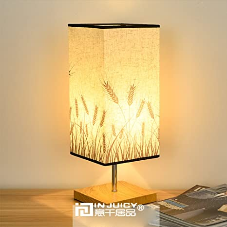 New Style Chinese Table Lamp Wooden Base E27 Holder Ceramics Table Lamp For Living Room Bedroom Retro Bedside Lamp Modern Desk Soft And Light Led Table Lamps Led Lamps