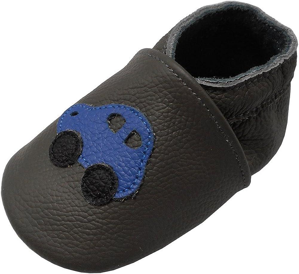 Zapatos de bebé de piel suave para niños y niñas