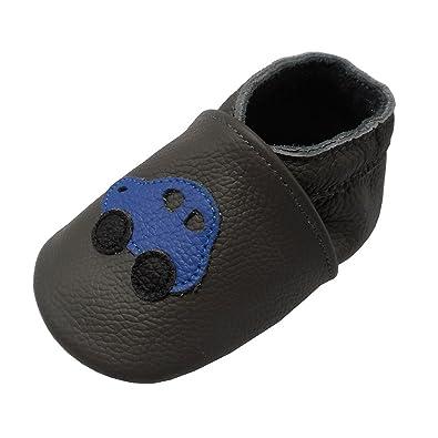 Amazon.com: yalion zapatos de bebé de piel suave suela de ...