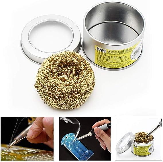 Rameng Maille de Cuivre Spirale /à R/écurer en Inox Balle Nettoyage Lavage Spirale Tampon /à R/écurer