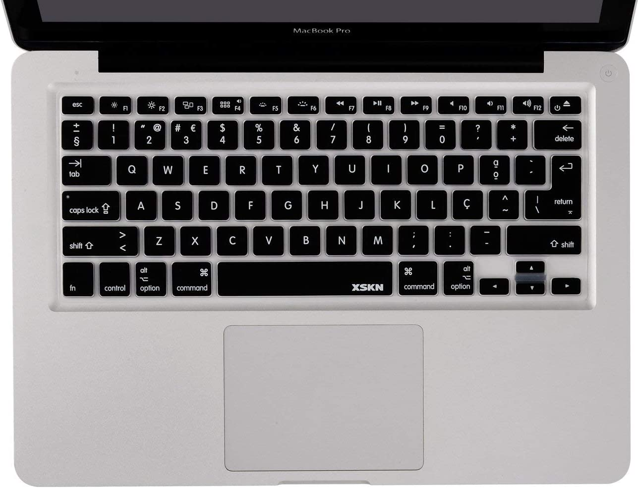 Portuguese Language Keyboard Cover Silicone Skin for MacBook Pro 13 15 17 Inch