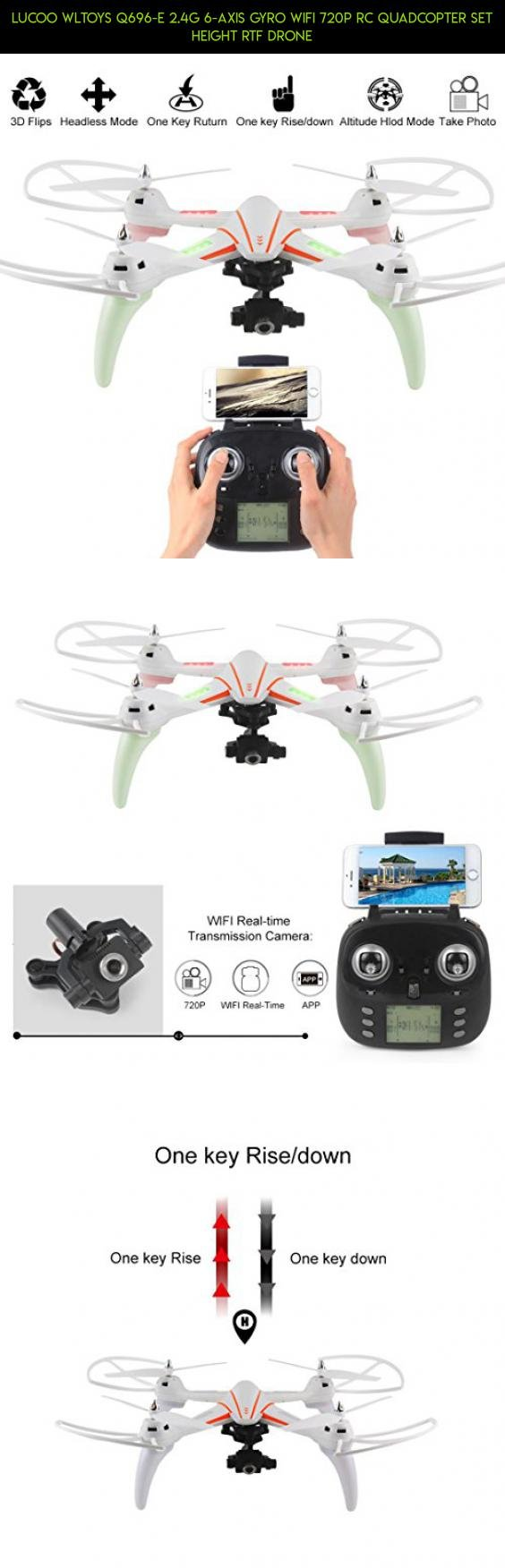 6 Axis Quad Copter With Wifi 720 Camera And Always Level Camera Mount