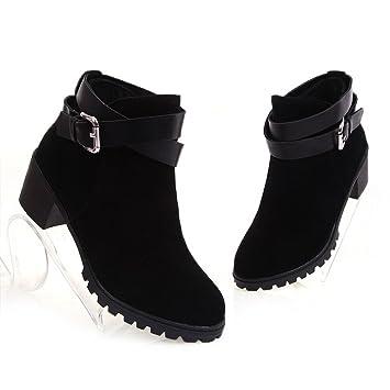 020479929e1 Amazon.com   Good  Day Women Boots Thick Heel Platform Shoes. (8.5 ...