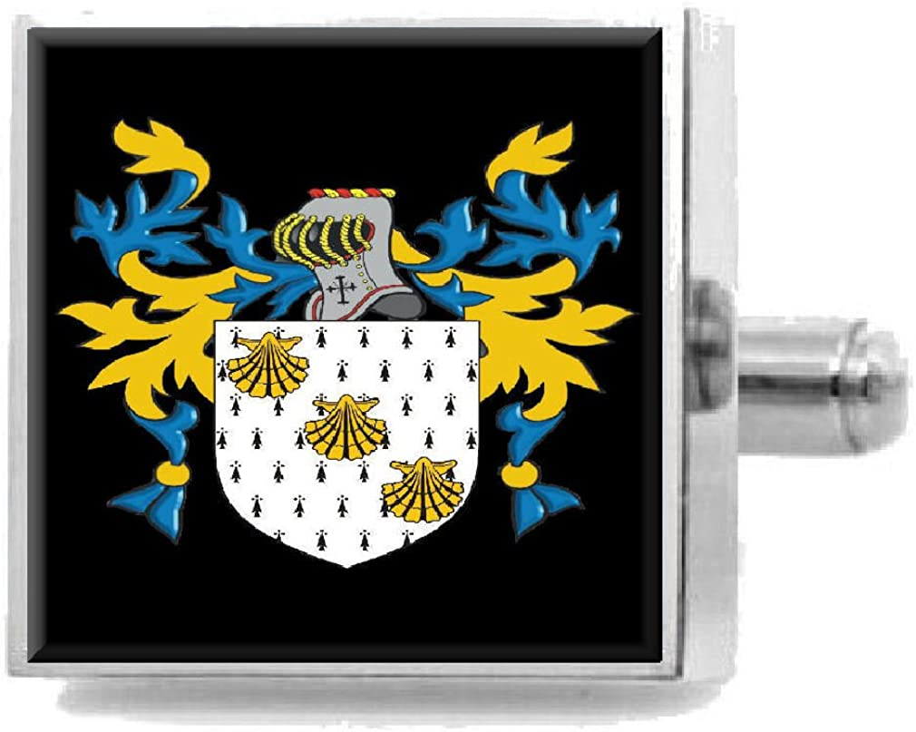 Select Gifts Keenan Ireland Family Crest Surname Coat Of Arms Cufflinks Personalised Case