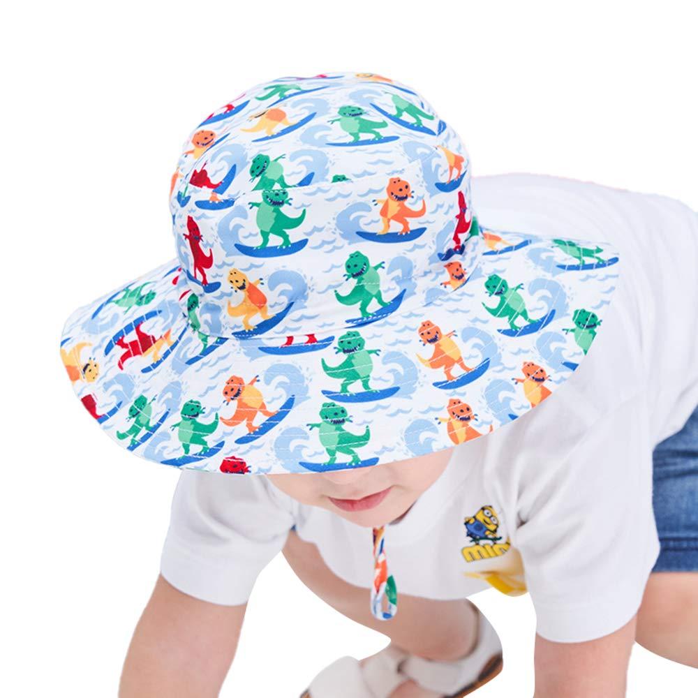 Vivobiniya Kids Girl UPF50 Sun Hats with Strap Baby boy Bucket Hat