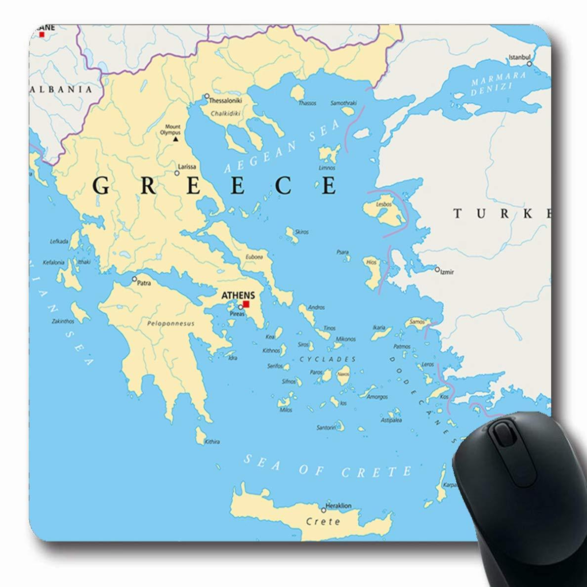 Amazon.com : Mousepads for Computers World Aegean Greece ...