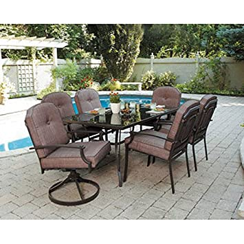 7 piece patio dining set seats 6 enjoy the outdoors with this patio furniture