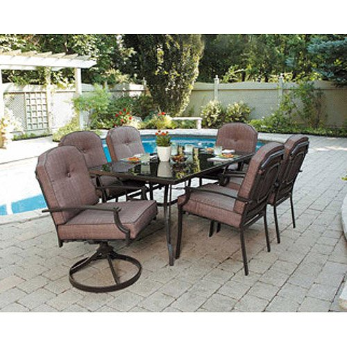 Amazon.com: 7 Piece Patio Dining Set, Seats 6. Enjoy the Outdoors with This Patio  Furniture Dining Set. Impress Your Neighbors with the Design of This Patio  ... - Amazon.com: 7 Piece Patio Dining Set, Seats 6. Enjoy The Outdoors