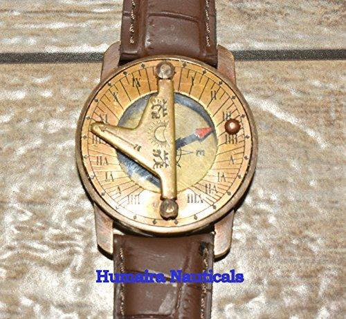 Humaira Natical Wirst Watch Sundial Compass Nice Gift Item by Humaira Nauticals