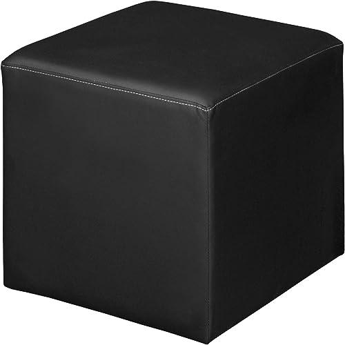 Jean Square Ottoman- Black
