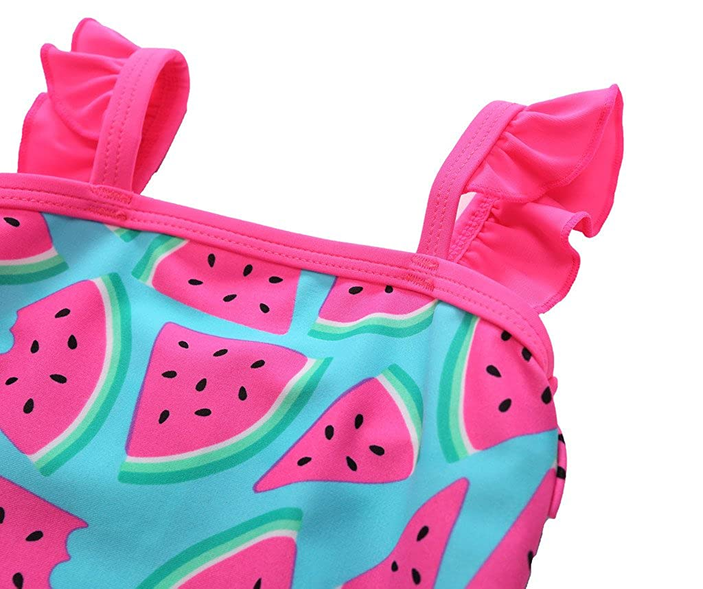 CharmLeaks Baby Girls Cute One Piece Swimming Costume Printed Swimwear Swimsuits