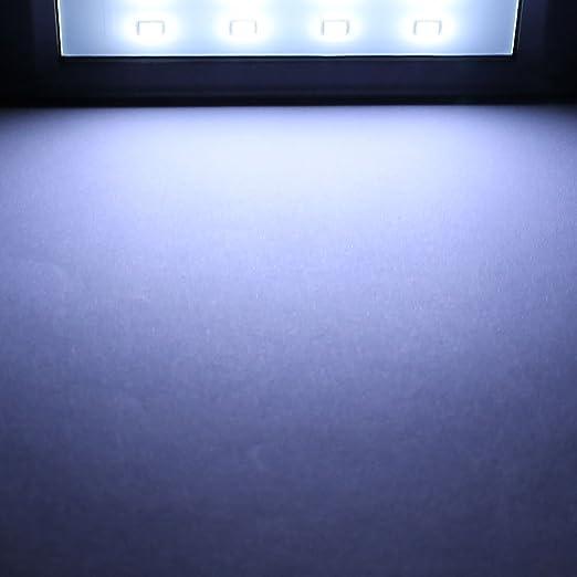 La lámpara PIR del sensor de movimiento CDS eDealMax Solar LED de pared de luz 8 LED a prueba de agua al aire libre Jardín - - Amazon.com