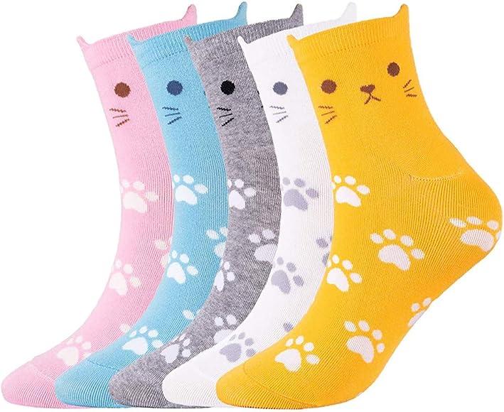 Fashion Cute Fun Socks For Women Colorful Fashion Pattern