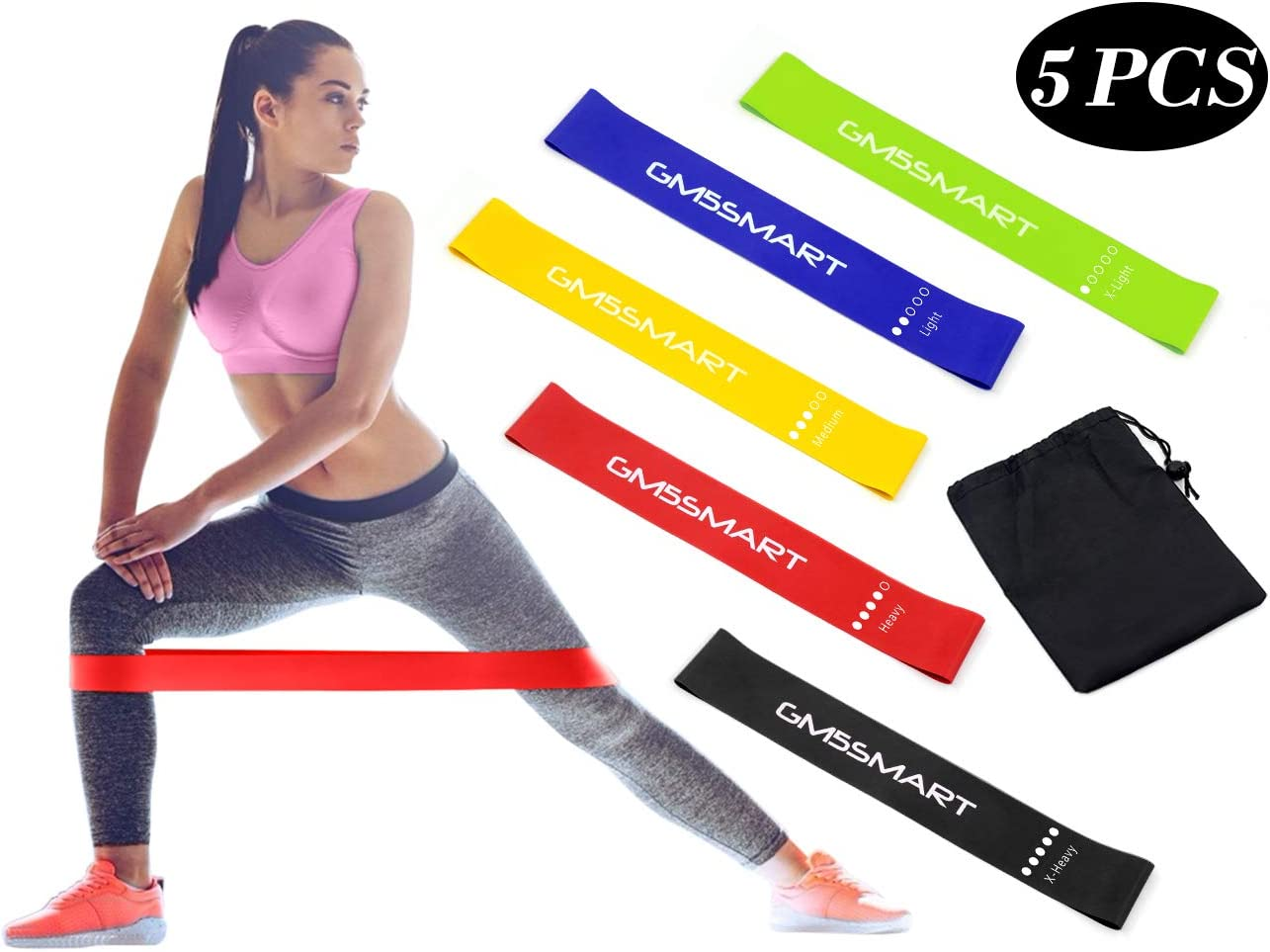 Exercise Bands Resistance Band Fitness Workout Stretch Elastic Loop Legs Therapy
