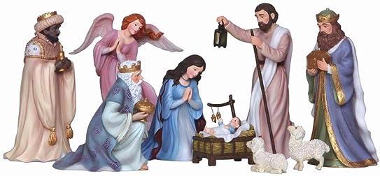 Pipka Nativity 9 Piece Set