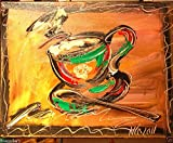Modern Abstract Impressionist Art Deco - Oil Painting on Canvas- Signed with Certificate of Authenticity Fine Arts, Stretched - Gallery Wrap - Ready to Display