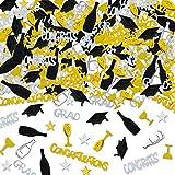 Holicolor 100g Graduation Party Confetti Star, Cap, Wine Glass, Wine Bottle, Grad, CONGRATS, CONGRATULATIONS Confetti Bright Graduation Decoration Set