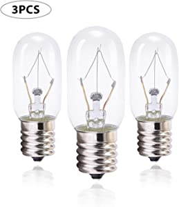 40 Watt Appliance Bulb, Clear 40 Watt Microwave Bulb GE WB36x10003 - Microwave Light - Fits Most GE and Whirlpool Ovens, E17 Base Bulb - Pack of 3