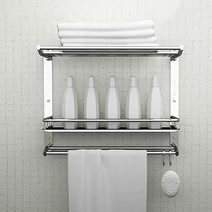 Estante de toalla 304 baño de Acero Inoxidable multifunción Elementos colocados estantes Colgantes de Pared han
