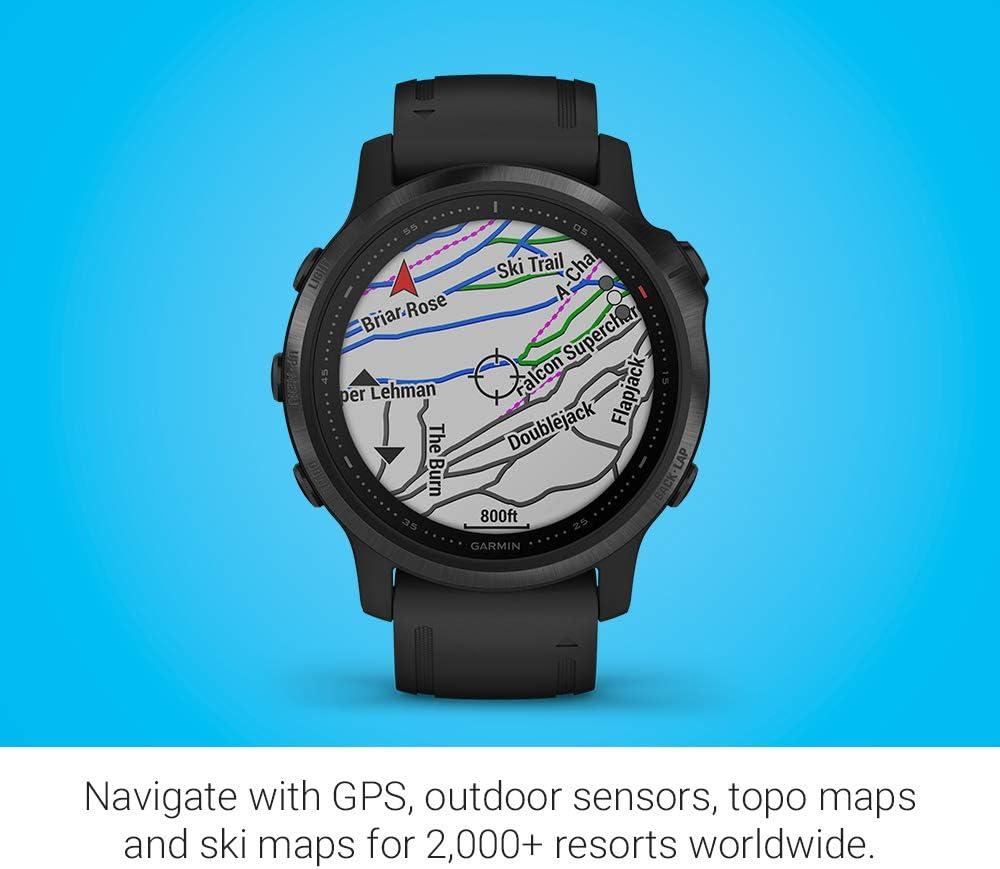 Garmin Fenix 6S Pro, reloj GPS multideporte definitivo, tamaño ...