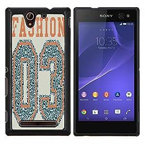 Dragon Case - FOR Sony Xperia C3 D2533 - comfort is indifferen - Caja protectora de pl??stico duro de la cubierta Dise?¡Ào Slim Fit