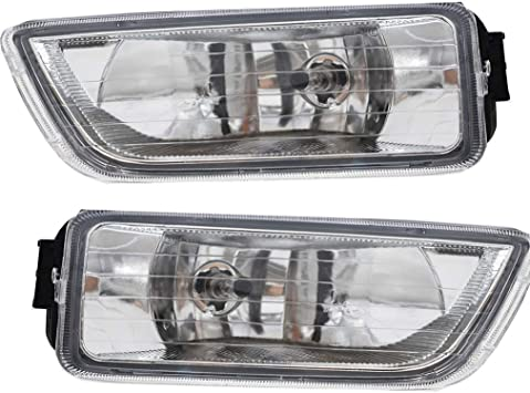 labwork Clear Bumper Driving Fog Lights LH RH Pair Fit for 2003-2007 Honda Accord 4DR Sedan