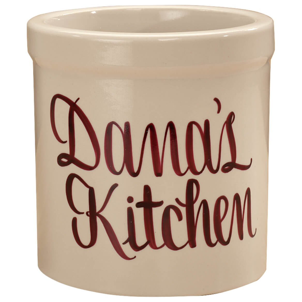 Personalized Stoneware Burgundy Crock - 1 Qt