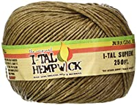 I-Tal Hemp Wick ~ Spool ~ Made Of Organic Hemp & Bees Wax ~ 250' of Wick