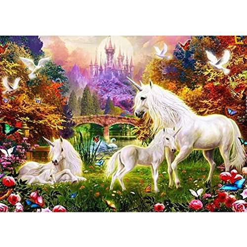 Alloet Horses 5D Diamond DIY Painting Craft Kit Home Decor