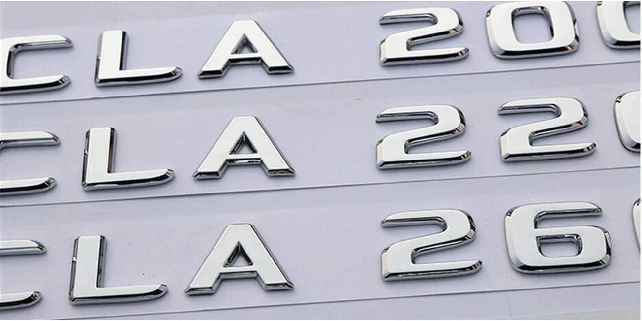 chisushangm New Chrome ABS Rear Trunk Letters Badge Badges Emblem Emblems Sticker For Mercedes Benz C Class C300 2017 2019