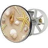 Waschbeckenstöpsel Design Strand | Abfluss-Stopfen aus Metall | Excenterstopfen | Abflussstöpsel | 38 – 40 mm | Stöpsel