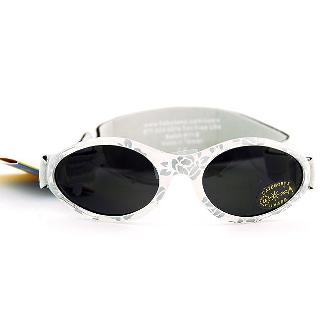 Baby Banz - Gafas de sol Ovaladas para niños, color Plateado (Silver Damask), talla 2-5 años