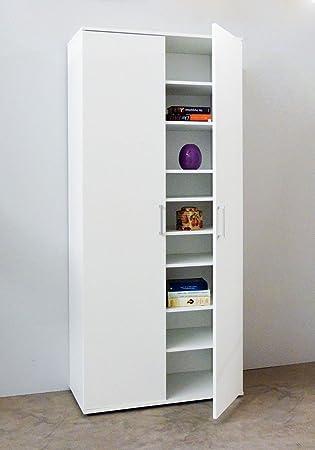 Vorratsschrank küche weiß  Dreams4Home Mehrzweckschrank 'Fritz' weiß 80x178x39 cm ...
