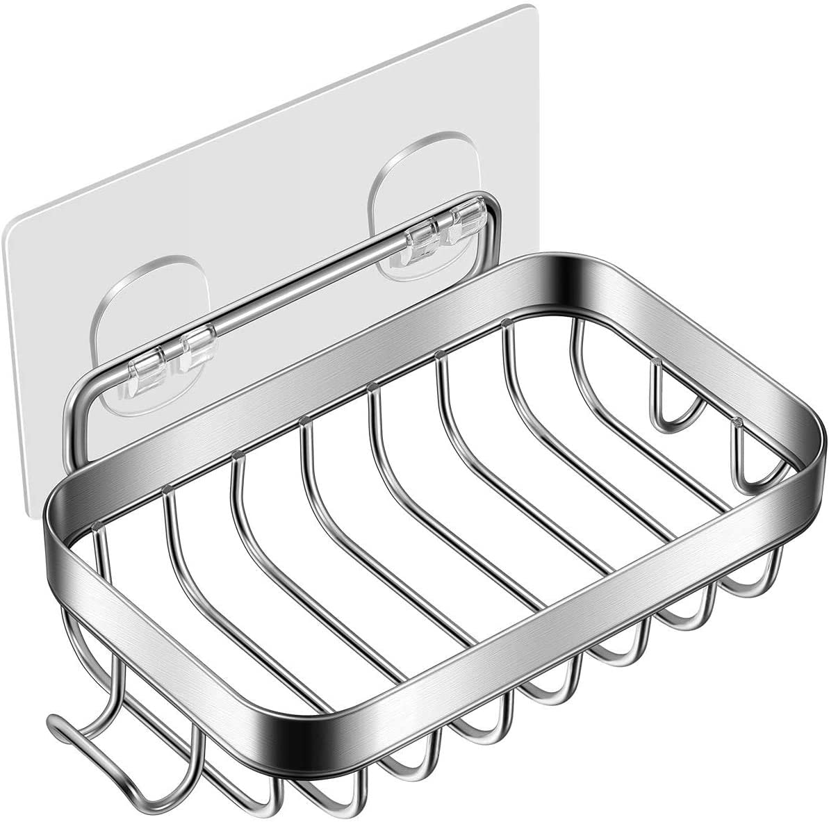 Bathroom Wall Mount Stainless Steel Soap Dish Holder commodity shelf with hooK