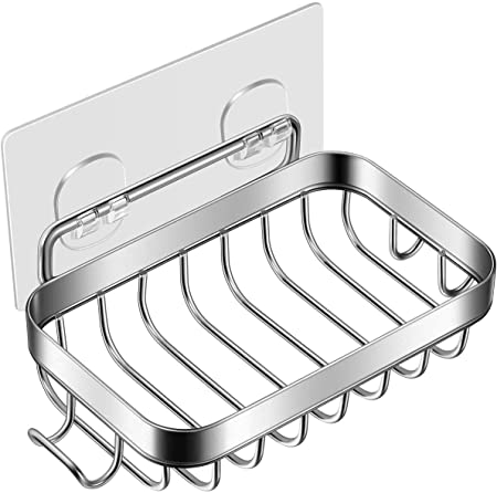 Stainless Steel Soap Dish Wall Mounted Holder For Household Kitchen Bathroom BG
