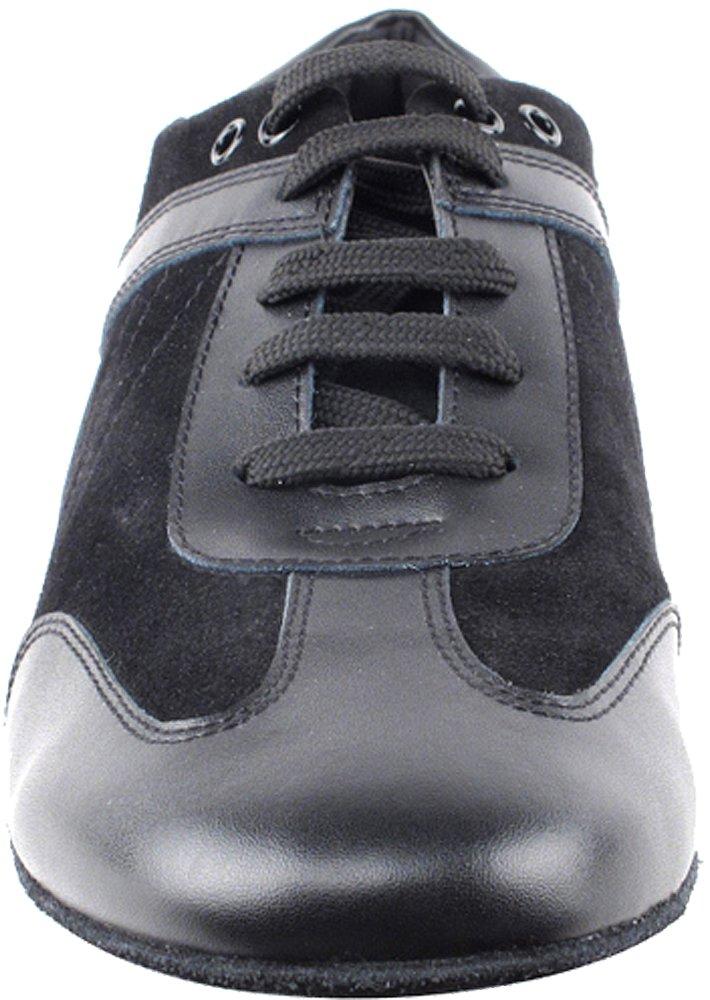 Men's Ballroom Latin Salsa Sneaker Dance Shoes Leather Black SERO106BBXEB Comfortable - Very Fine 8.5 M US [Bundle of 5] by Very Fine Dance Shoes (Image #3)