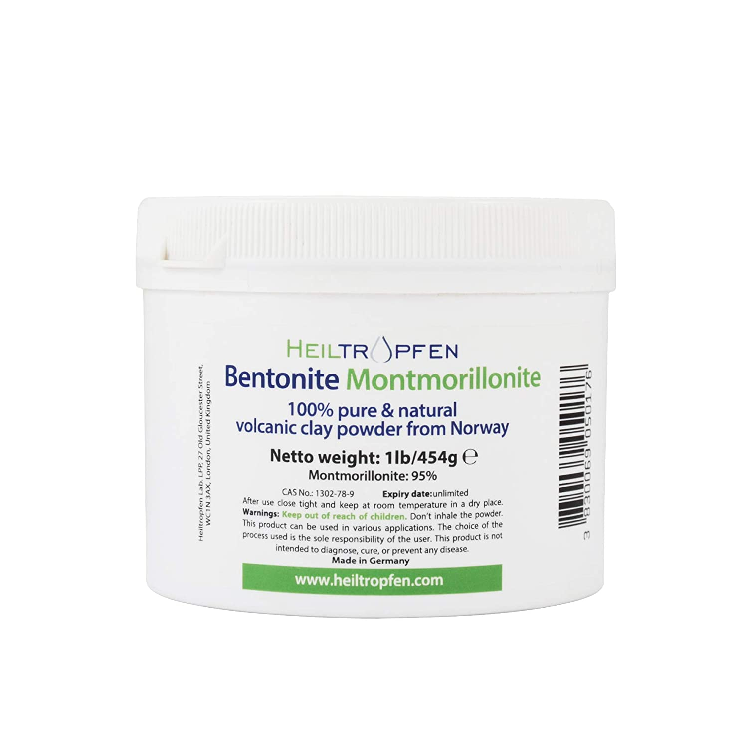 Bentonite Montmorillonite powder, 1 Pound, ULTRA FINE, Montmorillonite content: 95%, Natural Mineral Dust. Heiltropfen