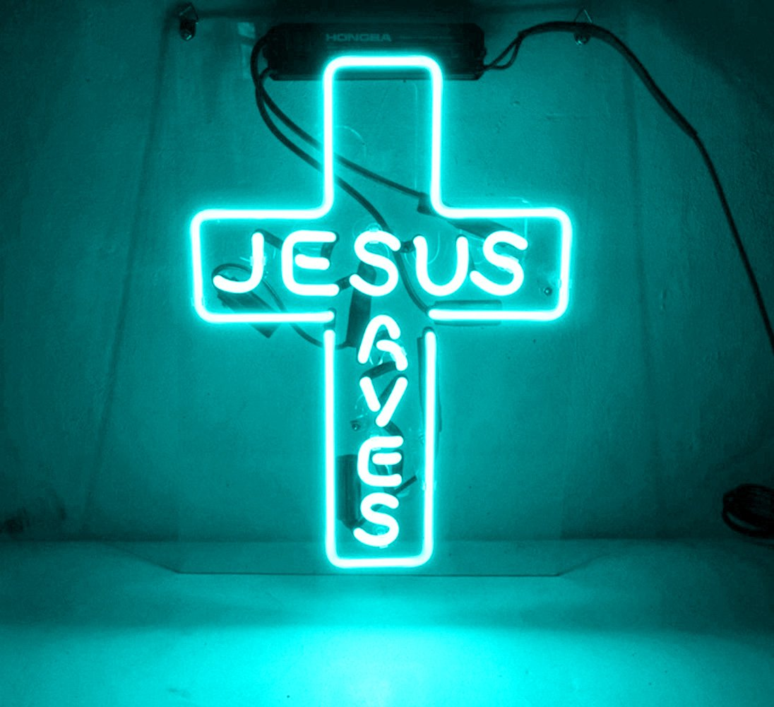 Night Light lamp Decor Neon Light Sign Beer Bar Custom Home Lighting Decorations - Perfect for Bedroom, Living Room, Hallway, Stairways, Office, Garage, Windows - JESUS AVES