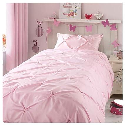 Zigguo Kids Duvet Cover Twin No Comforter Blush Pink Duvet Cover Set For Girls