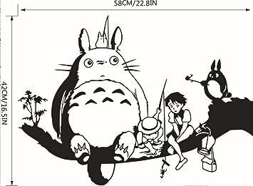 D Totoro Etiqueta De La Pared Para Los Niños Habitación