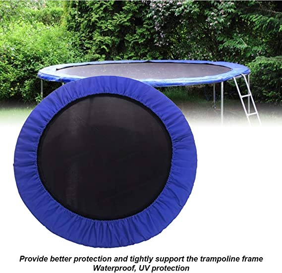 Outdoor Waterproof Surround Spring Cover Trampoline Replacement Safety Pad 3 Layer Shock Absorbent Surround Spring Cover Multisizes UXELY Trampoline Cover