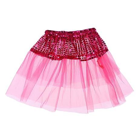 TENDYCOCO - Falda de Lentejuelas para niña, Rosado, 20 cm: Amazon ...