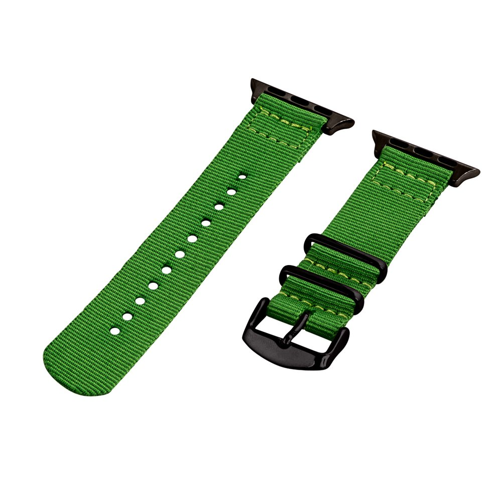 Clockwork Synergy – 2ピースクラシックNATOナイロンフラグ用時計バンドApple Green Band / Black Hardware Green Band / Black Hardware B01DYJUADU