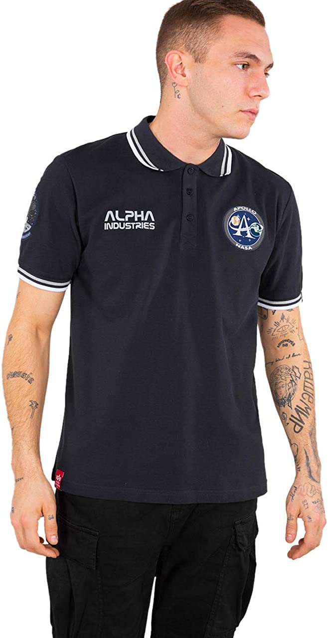 Alpha Industries Men Polo Shirt Moon Landing: Amazon.es: Deportes ...