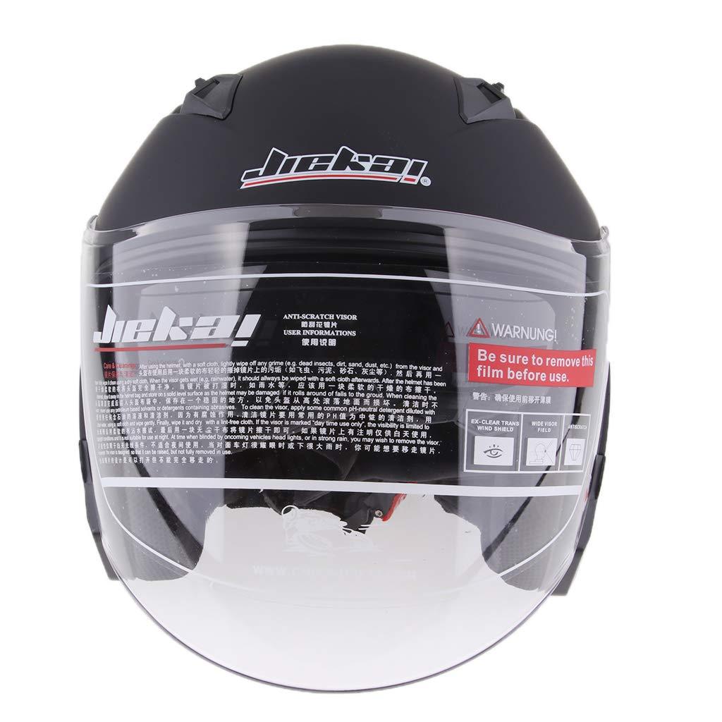 Matte Black M Baoblaze Dual Visors Motorcycle 3//4 Open Face Half Helmet Full Shield Visor Helmets