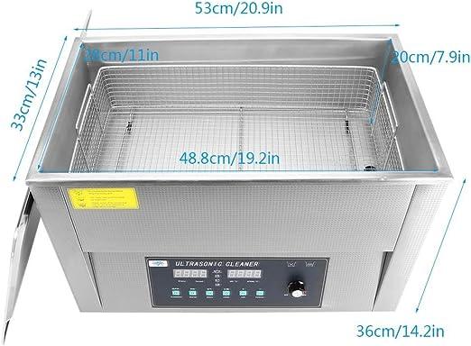 Cusco Acero Inoxidable Industrial Limpiador Ultrasónico Máquina de Tanque de Limpieza con Calefacción (30L): Amazon.es: Hogar