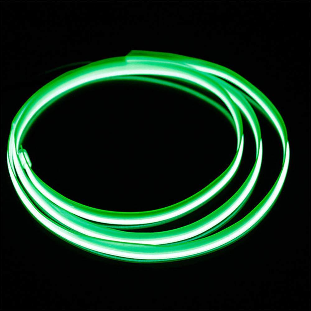 Hilo Led para el coche interior de color verde